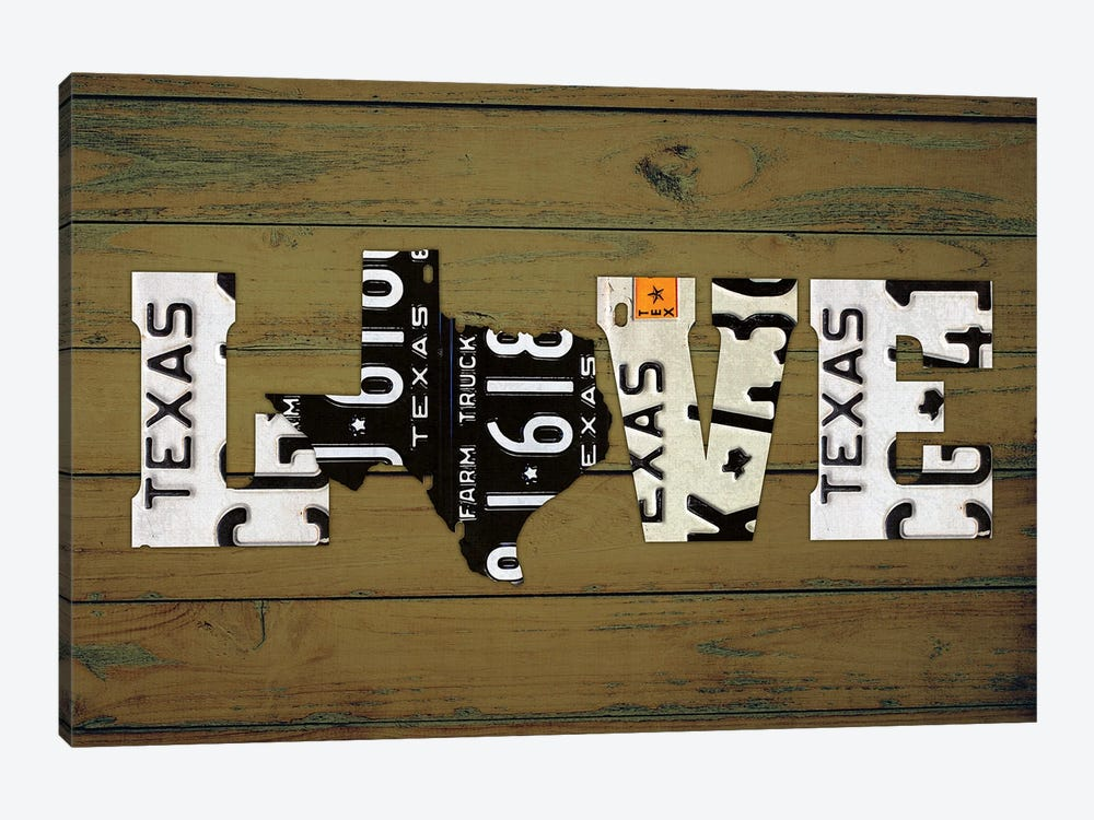 Texas State Love by Design Turnpike 1-piece Canvas Wall Art