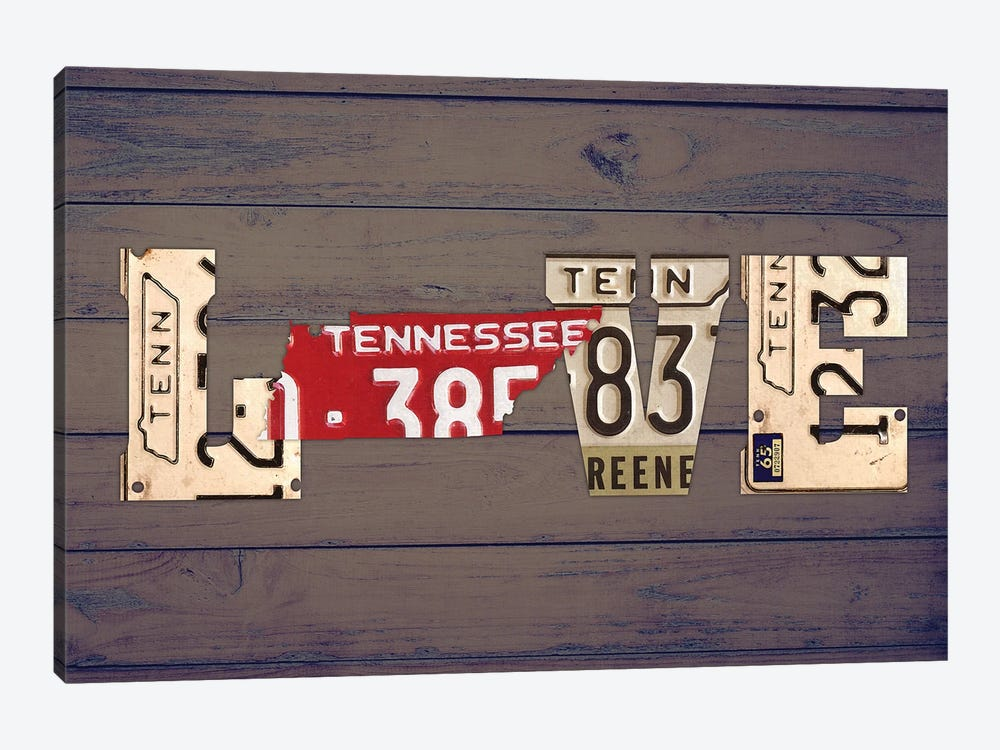 TN State Love by Design Turnpike 1-piece Canvas Print