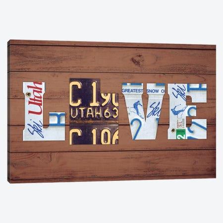 UT State Love Canvas Print #DTU230} by Design Turnpike Canvas Print