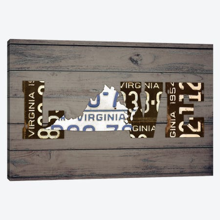 VA State Love Canvas Print #DTU231} by Design Turnpike Canvas Art Print