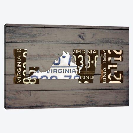 VA State Love Canvas Print #DTU231} by Design Turnpike Canvas Art Print