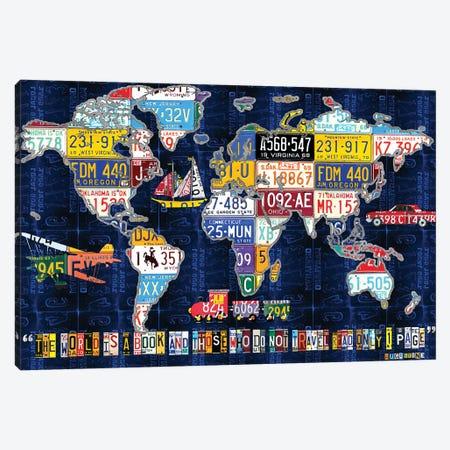 World Map 2016 Augustine Canvas Print #DTU236} by Design Turnpike Canvas Wall Art