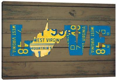 WV State Love Canvas Art Print