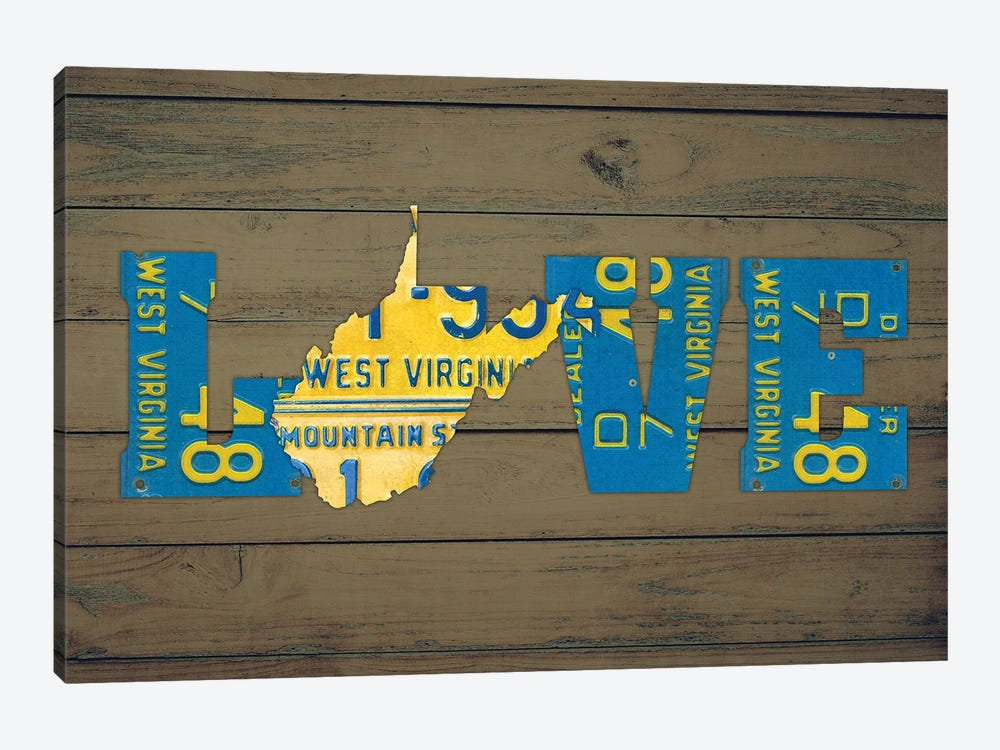 WV State Love by Design Turnpike 1-piece Canvas Wall Art