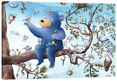 Birds, Bunnies, And Bear Canvas Art Print