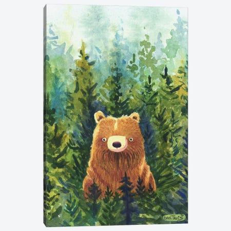 Brown Bear Forest Canvas Print #DTV15} by Dan Tavis Art Print