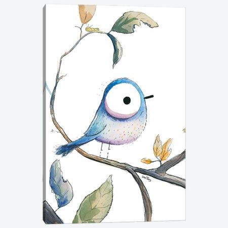 Blue Bird Stare Canvas Print #DTV16} by Dan Tavis Art Print