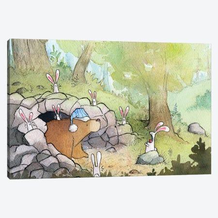 Bunnies, Natures Alarm Clock Canvas Print #DTV18} by Dan Tavis Canvas Art