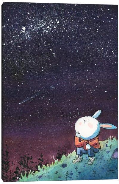 Bunny Starry Night Canvas Art Print