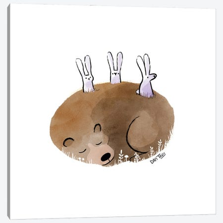 Bunny Lookout Canvas Print #DTV20} by Dan Tavis Canvas Print