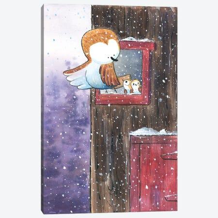 First Winter Canvas Print #DTV29} by Dan Tavis Art Print