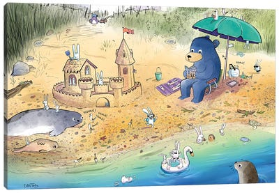 Beach Day Everyday Canvas Art Print