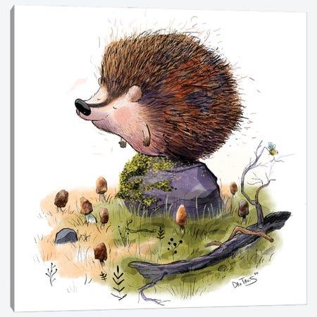 Henry The Hedgehog Canvas Print #DTV31} by Dan Tavis Canvas Art