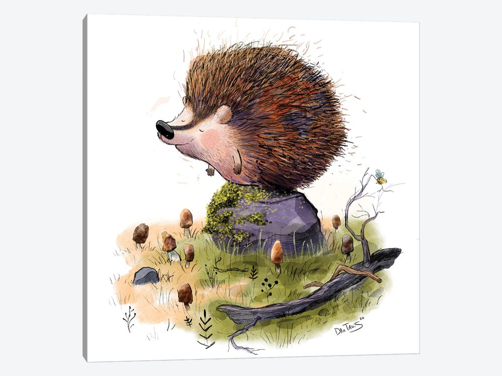 Henry The Hedgehog by Dan Tavis 1-piece Canvas Artwork