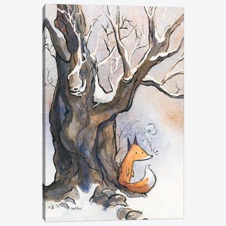 Fox Breath Canvas Print #DTV32} by Dan Tavis Canvas Artwork