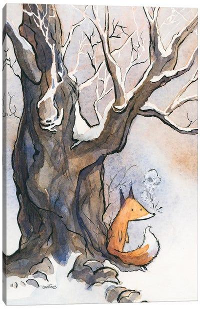Fox Breath Canvas Art Print