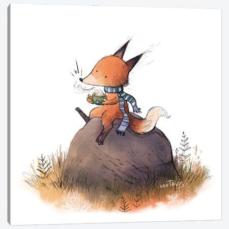 Fox In Fall Canvas Print #DTV33} by Dan Tavis Canvas Artwork