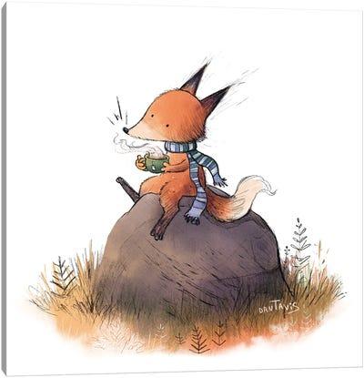 Fox In Fall Canvas Art Print
