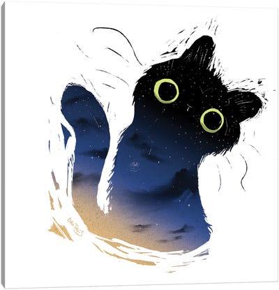 Galaxy Cat Canvas Art Print