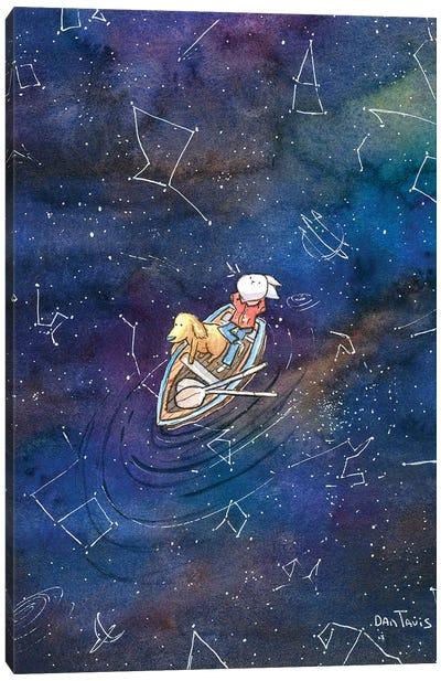 Galaxy Gazing Canvas Art Print