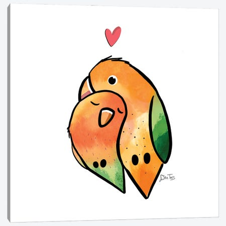 Love Birds Canvas Print #DTV39} by Dan Tavis Canvas Art