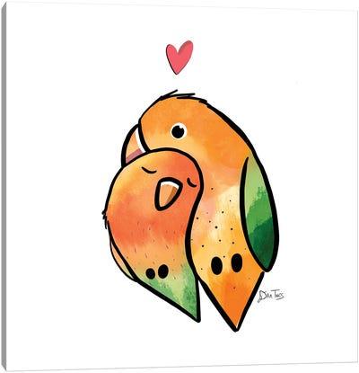 Love Birds Canvas Art Print