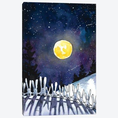 Moonlight Bunnies Canvas Print #DTV41} by Dan Tavis Art Print