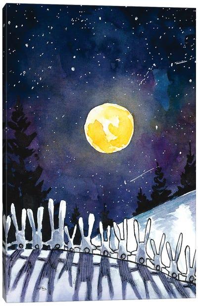 Moonlight Bunnies Canvas Art Print