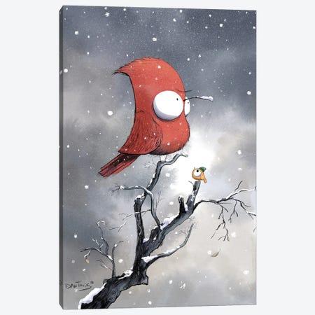 Not All Birds Welcome Winter Canvas Print #DTV44} by Dan Tavis Canvas Artwork