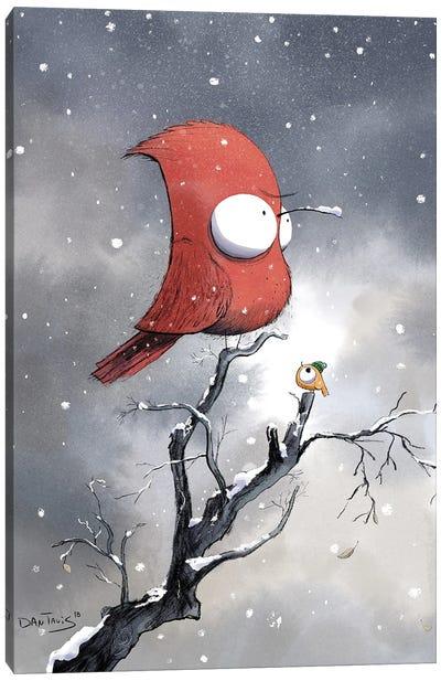 Not All Birds Welcome Winter Canvas Art Print