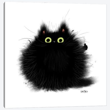 Thumbs Up Cat. Canvas Print #DTV46} by Dan Tavis Canvas Artwork