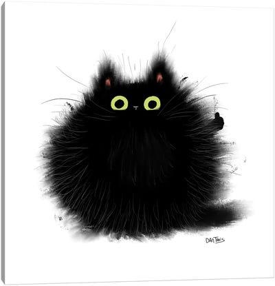 Thumbs Up Cat. Canvas Art Print