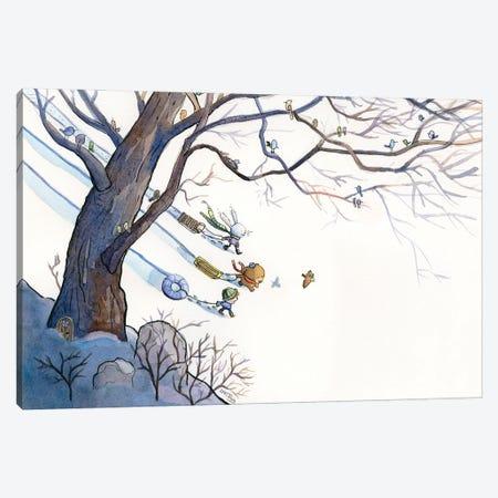 Sledding Day Canvas Print #DTV48} by Dan Tavis Art Print