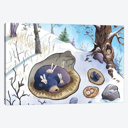 Bear Sleeps Canvas Print #DTV4} by Dan Tavis Canvas Artwork
