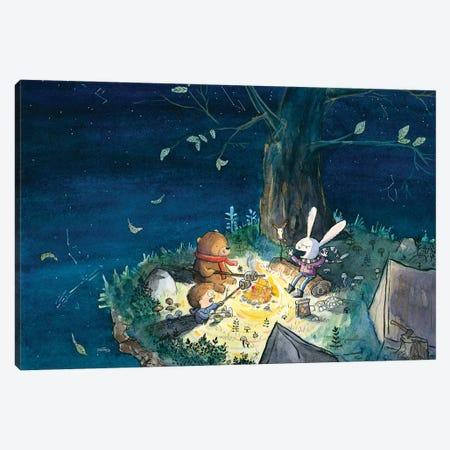 Starry Night By Fire Light Canvas Print #DTV50} by Dan Tavis Canvas Art