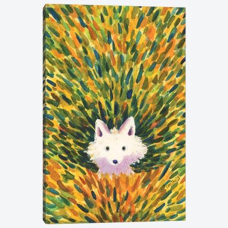 White Fox Canvas Print #DTV52} by Dan Tavis Canvas Art