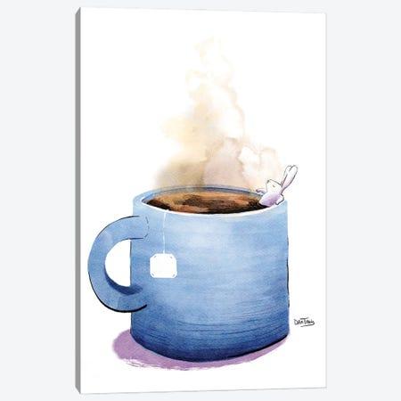 Morning Tea And Bunny Canvas Print #DTV58} by Dan Tavis Canvas Wall Art