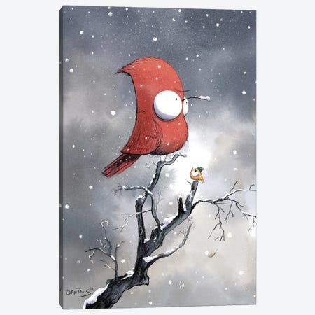 Some Birds Don't Like Winter Canvas Print #DTV62} by Dan Tavis Art Print