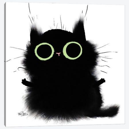 Cat Hug Canvas Print #DTV64} by Dan Tavis Canvas Wall Art