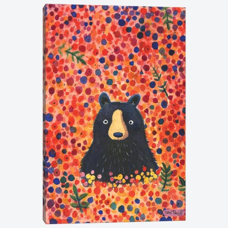 Black Bear Berries Canvas Print #DTV6} by Dan Tavis Canvas Wall Art