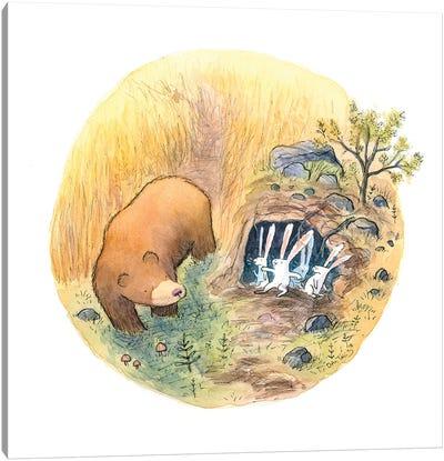 Bears House Canvas Art Print