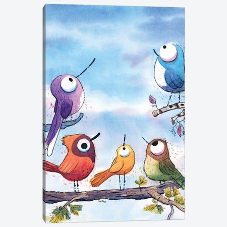 Birds Are Everywhere Canvas Print #DTV9} by Dan Tavis Canvas Print