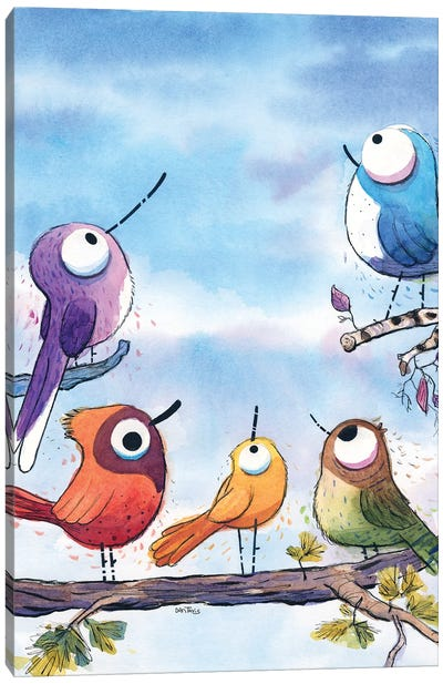 Birds Are Everywhere Canvas Art Print