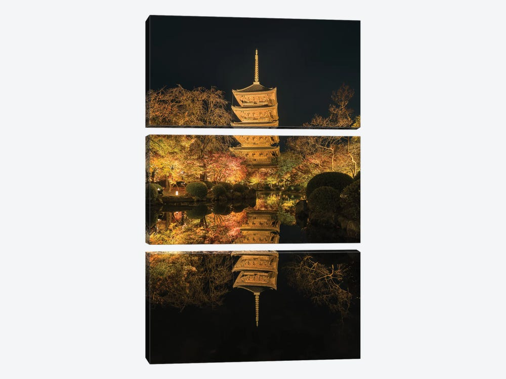 Autumn In Japan XII by Daisuke Uematsu 3-piece Canvas Artwork