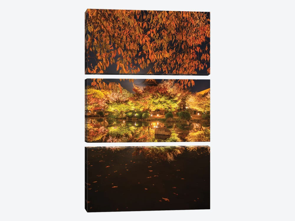 Autumn In Japan I by Daisuke Uematsu 3-piece Canvas Art