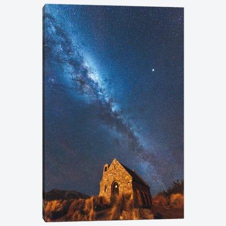 Church Of Tekapo II , New Zealand Canvas Print #DUE20} by Daisuke Uematsu Canvas Print