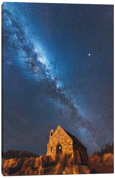 Church Of Tekapo II , New Zealand Canvas Art Print