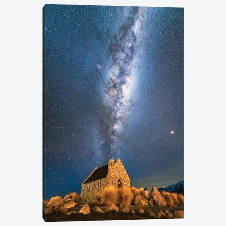 Church Of Tekapo III , New Zealand Canvas Print #DUE21} by Daisuke Uematsu Canvas Print