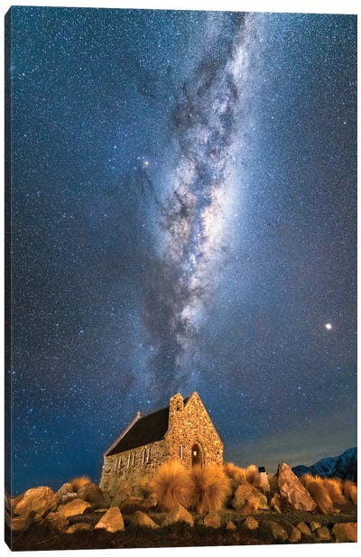 Church Of Tekapo III , New Zealand Canvas Art Print