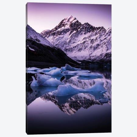 Hooker Glacier Lake, New Zealand Canvas Print #DUE22} by Daisuke Uematsu Canvas Art Print